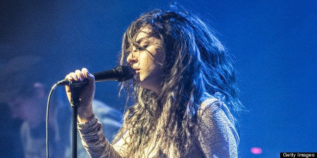 PARIS, FRANCE - MAY 02: Charli Xcx opens for Ellie Goulding at Le Bataclan on May 2, 2013 in Paris, France. (Photo by David W