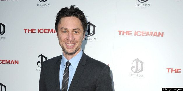 HOLLYWOOD, CA - APRIL 22:  Zach Braff arrives at the 'The Iceman'  - Los Angeles Premiere on April 22, 2013 in Hollywood, Cal