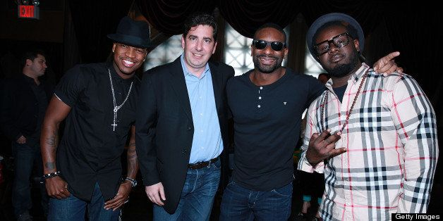 NEW YORK, NY - APRIL 30:  Neyo, John Acunto, Dj Irie and T Painattend the Gig-It Launch Party at Capitale Bowery on April 30,