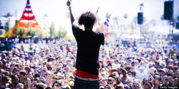 INDIO, CA - APRIL 13:  (EDITORS NOTE: THIS IMAGE HAS BEEN DIGITALLY MANIPULATED) Rapper Danny Brown performs onstage during d