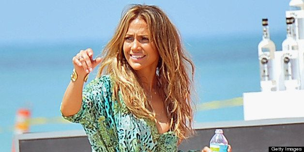 FORT LAUDERDALE, FL - MAY 05:  Jennifer Lopez shoots a video on May 5, 2013 in Fort Lauderdale, Florida.  (Photo by Olivia Sa