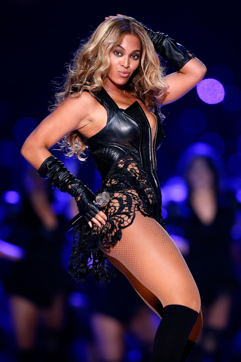 Beyonce lit up the stage during the Pepsi Super Bowl XLVII Halftime Show on February 3, 2013 in New Orleans, Louisiana.
