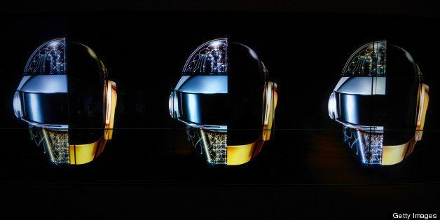 LONDON, ENGLAND - MAY 13:  A general view of atmosphere ahead of a listening party for Daft Punk's new album 'Random Access M