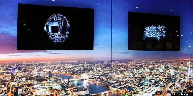 LONDON, ENGLAND - MAY 13:  A general view of the atmosphere and view of London at a listening party for Daft Punk's new album