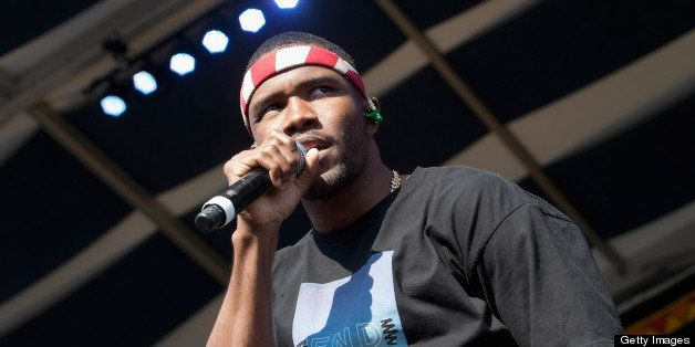NEW ORLEANS, LA - MAY 04:  Frank Ocean performs during the 2013 New Orleans Jazz & Heritage Music Festival at Fair Grounds Ra