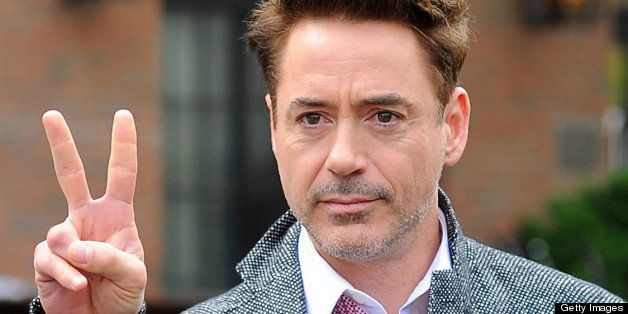 NEW YORK, NY - APRIL 30:  Robert Downey Jr. leaves Gemma restaurant on April 30, 2013 in New York City.  (Photo by Josiah Kam