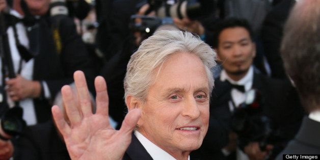CANNES, FRANCE - MAY 21:  Michael Douglas attends 'Behind The Candelabra' Premiere during The 66th Annual Cannes Film Festiva