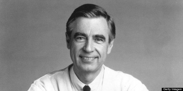 393868 02: (File Photo) Fred Rogers, The Host Of The Children's Television Series, 'Mr. Rogers' Neighborhood,' Rests His Arms