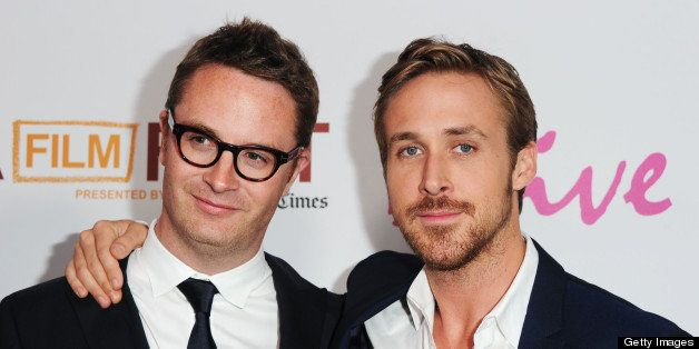 LOS ANGELES, CA - JUNE 17:  Director Nicolas Winding Refn and actor Ryan Gosling arrive at the  'Drive' Gala Premiere during
