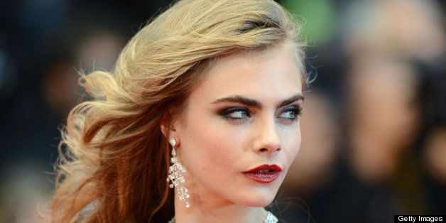 CANNES, FRANCE - MAY 15:  Model Cara Delevingne attends the Opening Ceremony and 'The Great Gatsby' Premiere during the 66th
