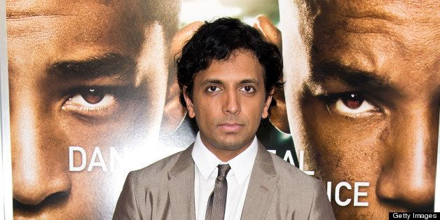NEW YORK, NY - MAY 29:  Director M. Night Shyamalan attends the 'After Earth' premiere at Ziegfeld Theater on May 29, 2013 in