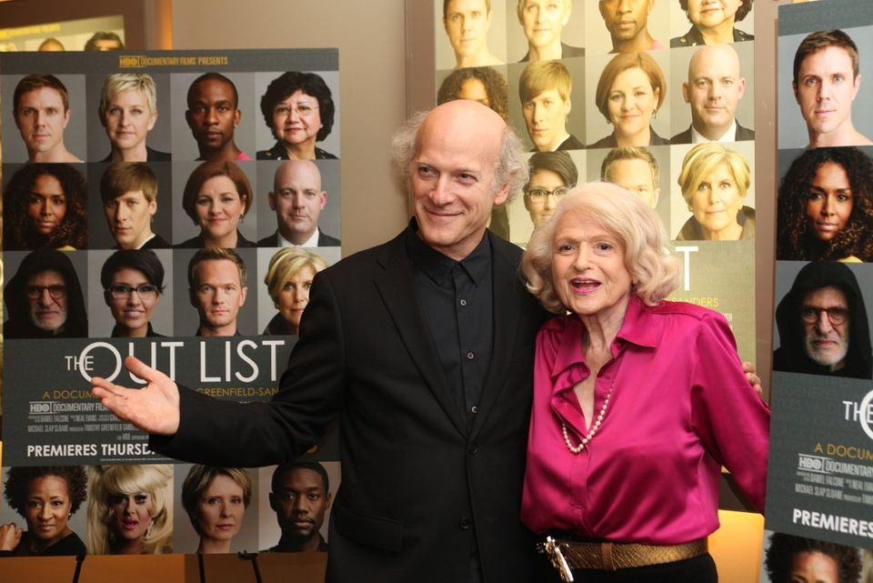 Film director Timothy Greenfield-Sanders with DOMA plaintiff Edie Windsor