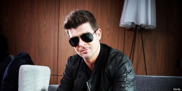 SYDNEY, AUSTRALIA - JUNE 17:  (EUROPE AND AUSTRALASIA OUT) American musician Robin Thicke poses during a photo shoot at The D