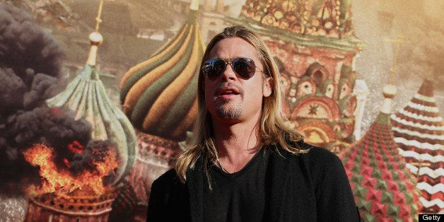 MOSCOW, RUSSIA - JUNE 20: Brad Pitt attends the Moscow Premiere of 'World War Z' during the Moscow International Film Festiva