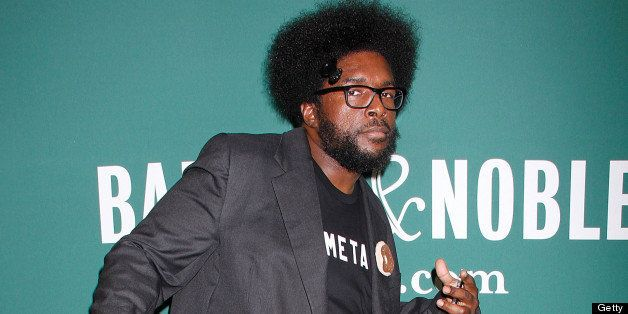 NEW YORK, NY - JUNE 19:  Ahmir 'Questlove' Thompson signs copies of his new book 'Mo' Meta Blues'  at Barnes & Noble Union Sq
