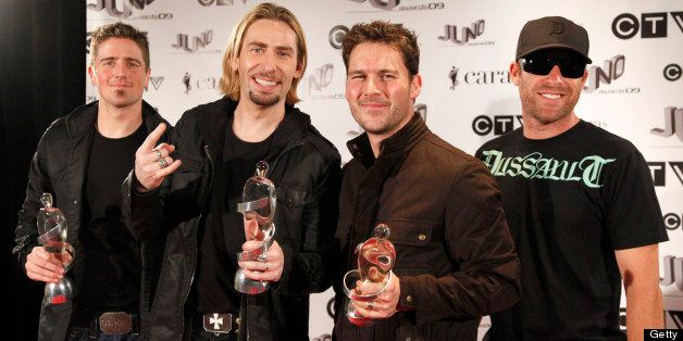 VANCOUVER, BC - MARCH 29:  2009 Juno Award Winners for Juno Fan Choice, Album of the Year 'Dark Horse' and Group of the Year,