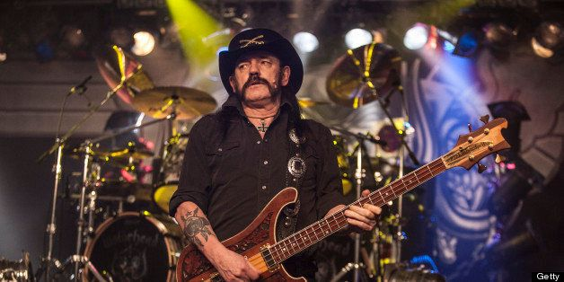 BOURNEMOUTH, ENGLAND - NOVEMBER 15:  Lemmy, aka Ian Fraser Kilmister, of Motorhead performs at BIC on November 15, 2012 in Bo