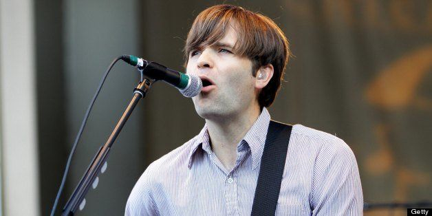 CHICAGO - JULY 12:  Singer and musician Ben Gibbard of Death Cab For Cutie, performs on the Petrillo Music Shell during the 3
