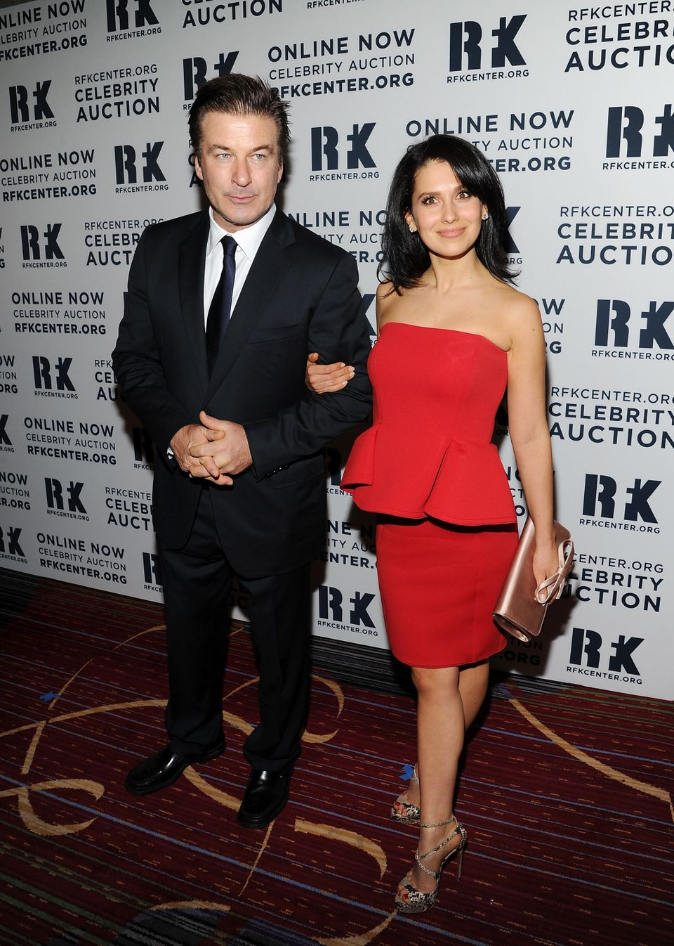 "Actor Alec Baldwin and wife Hilaria Baldwin attend the Robert F. Kennedy Center for Justice and Human Rights 2012 ""Ripple of"