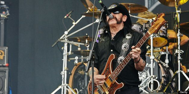 DONNINGTON, UNITED KINGDOM - JUNE 15: Lemmy Kilmister of Motorhead performs on stage on Day 2 of Download Festival 2013 at Do