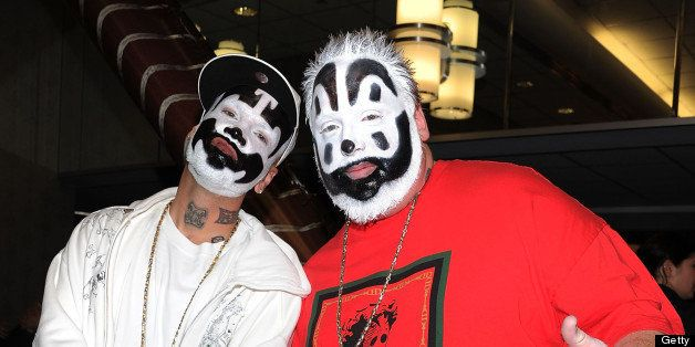 Members of the Insane Clown Posse attend The Cinema Society & Acura screening of 'Thor' at the AMC Loews 19th Street East 6 t