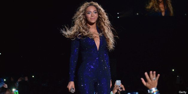 MIAMI, FL - JULY 10:  Entertainer Beyonce performs on stage during 'The Mrs. Carter Show World Tour' at the American Airlines
