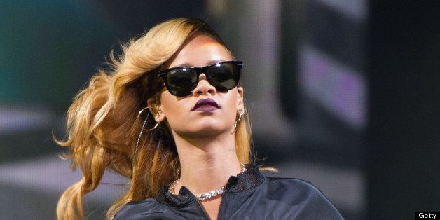 KINROSS, UNITED KINGDOM - JULY 13: Rihanna performs at Day 2 of the T in the Park festival at Balado on July 13, 2013 in Kinr