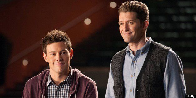 GLEE: (L-R) Corey Monteith and Matthew Morrison star in the 'Lights Out' episode of GLEE airing Thursday, April 25, 2013 (9:0