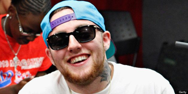 NEW YORK, NY - AUGUST 28:  Rapper Mac Miller visits 'Sway in the Morning' on Eminem's Shade 45 channel at SiriusXM Studio on