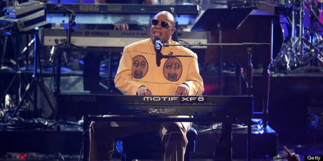 LOS ANGELES, CA - JUNE 30:  Recording artist Stevie Wonder performs onstage during the 2013 BET Awards at Nokia Theatre L.A.