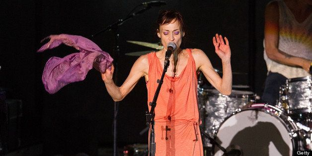 LOS ANGELES, CA - SEPTEMBER 14:  Fiona Apple performs on stage at The Greek Theatre on September 14, 2012 in Los Angeles, Cal