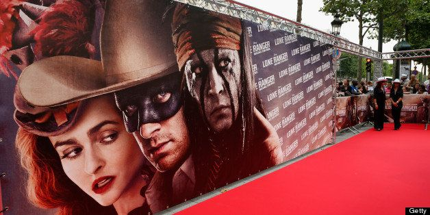 PARIS, FRANCE - JULY 24:  Atmosphere during the Paris Premiere of 'Lone Ranger' on July 24, 2013 at UGC Normandy in Paris, Fr