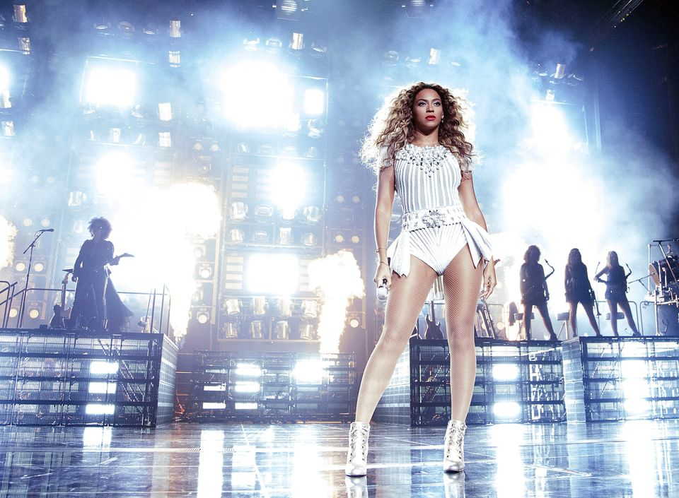 "IMAGE DISTRIBUTED FOR PARKWOOD - Singer Beyonce performs during her ""Mrs. Carter Show World Tour 2013"", on Wednesday, July 31"