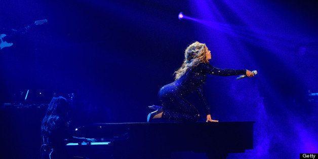 EAST RUTHERFORD, NJ - JULY 31:  Entertainer Beyonce performs on stage during 'The Mrs. Carter Show World Tour' at the Izod Ce