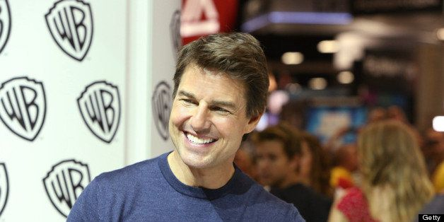 SAN DIEGO, CA - JULY 20: In this handout photo provided by WBTV, 'Edge of Tomorrow' star Tom Cruise at the Warner Bros. booth