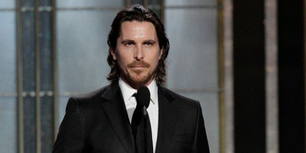 BEVERLY HILLS, CA - JANUARY 13: In this handout photo provided by NBCUniversal,  Actor Christian Bale on stage to present dur