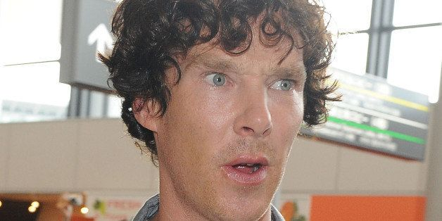 NARITA, JAPAN - JULY 15:  Actor Benedict Cumberbatch is seen upon arrival at Narita International Airport on July 15, 2013 in
