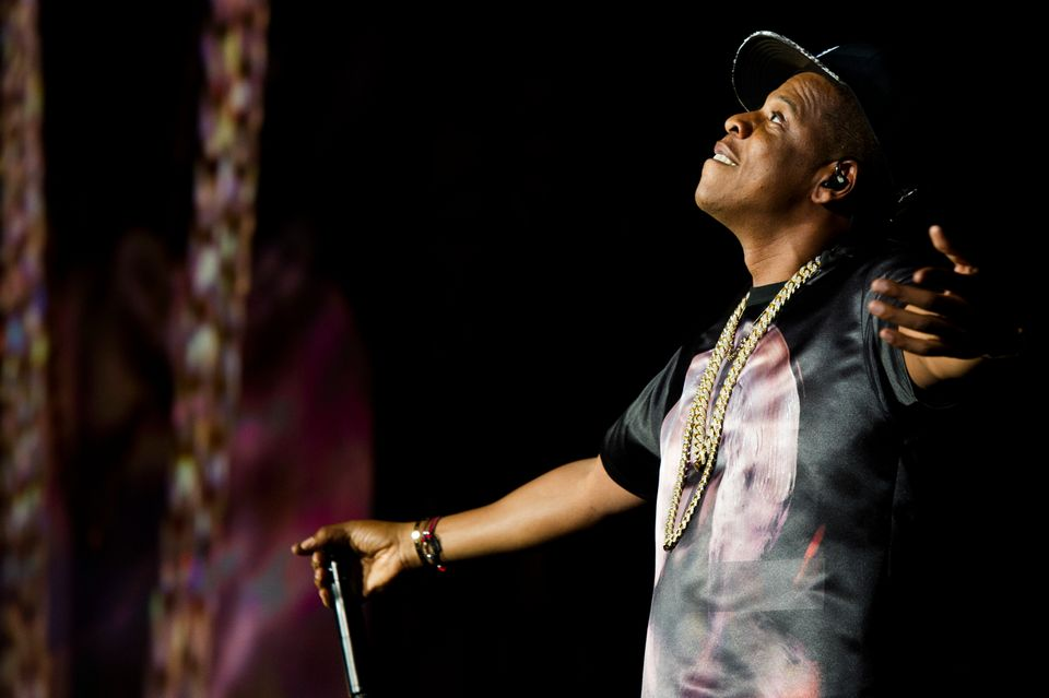 "Jay-Z performs at the ""Made In America"" music festival on Saturday, Sept. 1, 2012, in Philadelphia, PA. (Photo by Charles Syk"