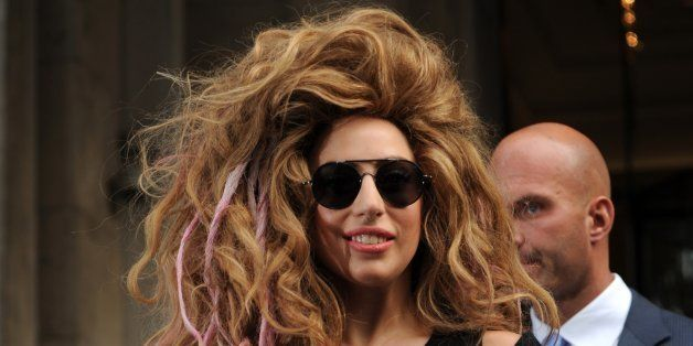 LONDON, UNITED KINGDOM - AUGUST 30: Lady Gaga pictured leaving her hotel on August 30, 2013 in London, England. (Photo by SAV