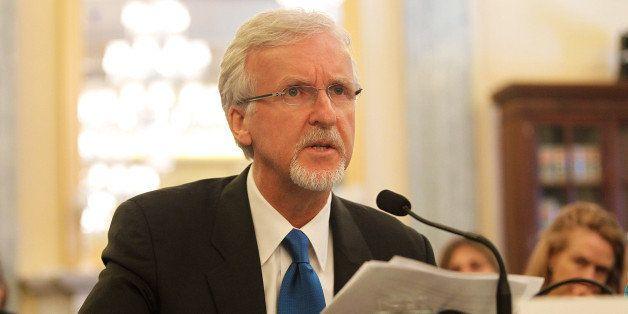 WASHINGTON, DC - JUNE 11: Explorer and filmmaker James Cameron testifies at the Senate Commerce, Science & Transportation Com