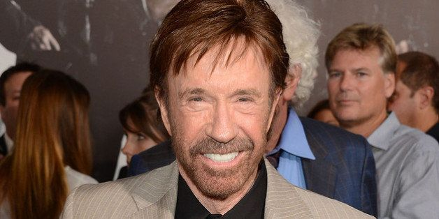 HOLLYWOOD, CA - AUGUST 15:  Actor Chuck Norris arrives at Lionsgate Films' 'The Expendables 2' premiere on August 15, 2012 in