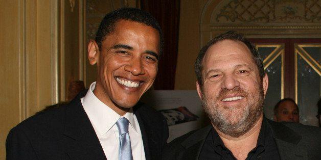Senator Obama, Harvey Weinstein, Senator Lautenberg and Senator Schumer *EXCLUSIVE* ***Exclusive*** (Photo by Sylvain Gaboury