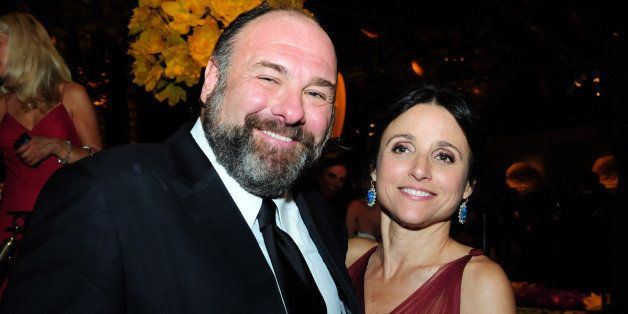 LOS ANGELES, CA - SEPTEMBER 23:  Actors James Gandolfini and Julia Louis-Dreyfus attend HBO's Official Emmy After Party at Th