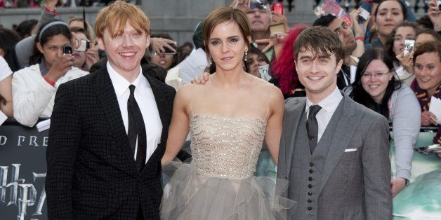 (L-R) Rupert Grint, Emma Watson And Daniel Radcliffe Arriving For The World Premiere Of Harry Potter And The Deathly Hallows: