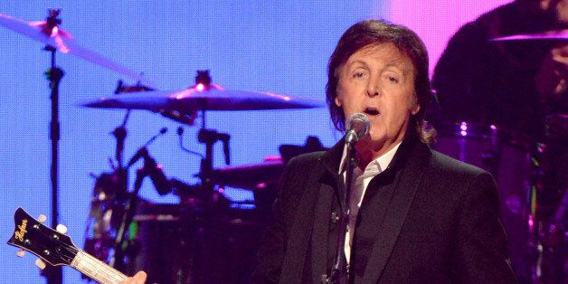LAS VEGAS, NV - SEPTEMBER 21:  Paul McCartney performs onstage during the iHeartRadio Music Festival at the MGM Grand Garden