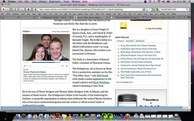 New York Times Wedding Announcement.Will Ferrell Guests In New York Times Wedding Announcement Huffpost