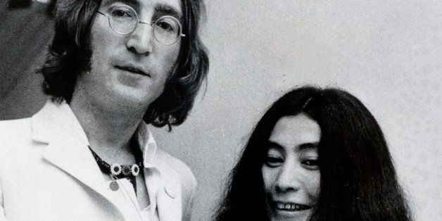 Music, Personalities, pic: 1968, John Lennon and Yoko Ono attend John's Art Exhibition and Happening  (Photo by Bentley Archi