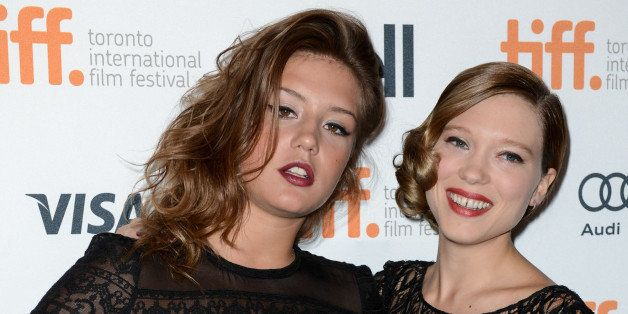 TORONTO, ON - SEPTEMBER 05: (L-R) Adele Exarchopoulos and Lea Seydoux attend premiere of Blue Is The Warmest Color at Winter