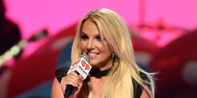 LAS VEGAS, NV - SEPTEMBER 21:  Britney Spears speaks onstage during the iHeartRadio Music Festival at the MGM Grand Garden Ar