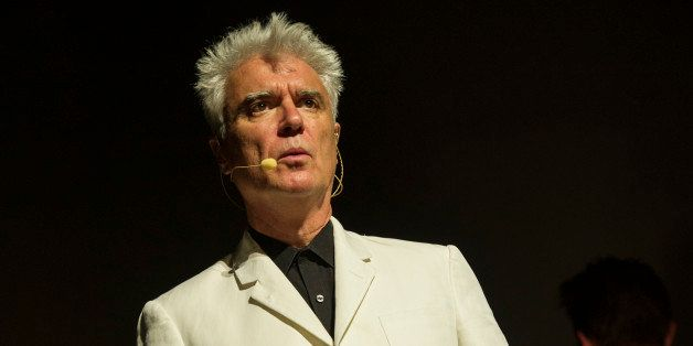 BIRMINGHAM, UNITED KINGDOM - AUGUST 28: David Byrne performs on stage at Symphony Hall on August 28, 2013 in Birmingham, Engl
